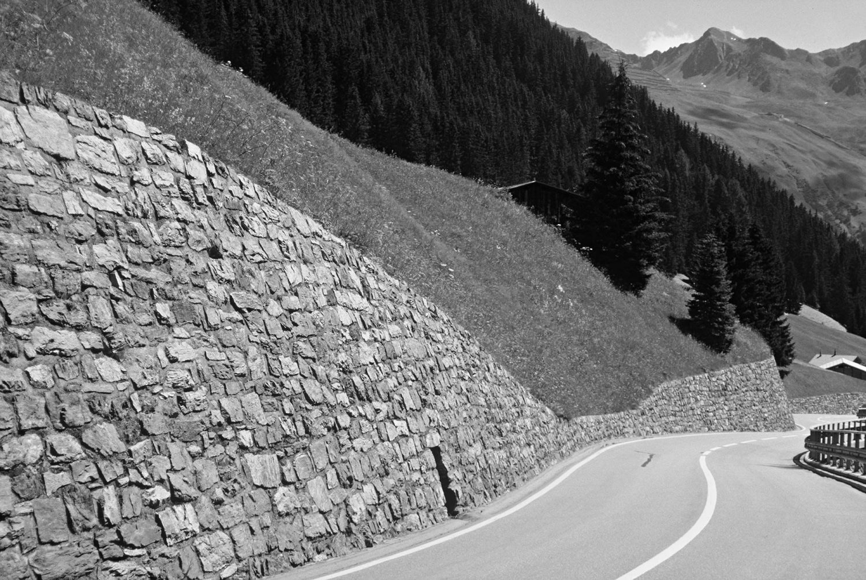 Road construction, retaining walls