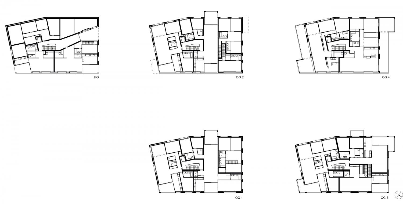 Haus B – Grundrisse