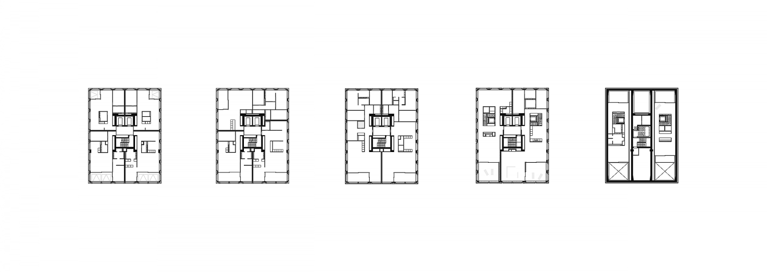 Upper floors of residential high-rise