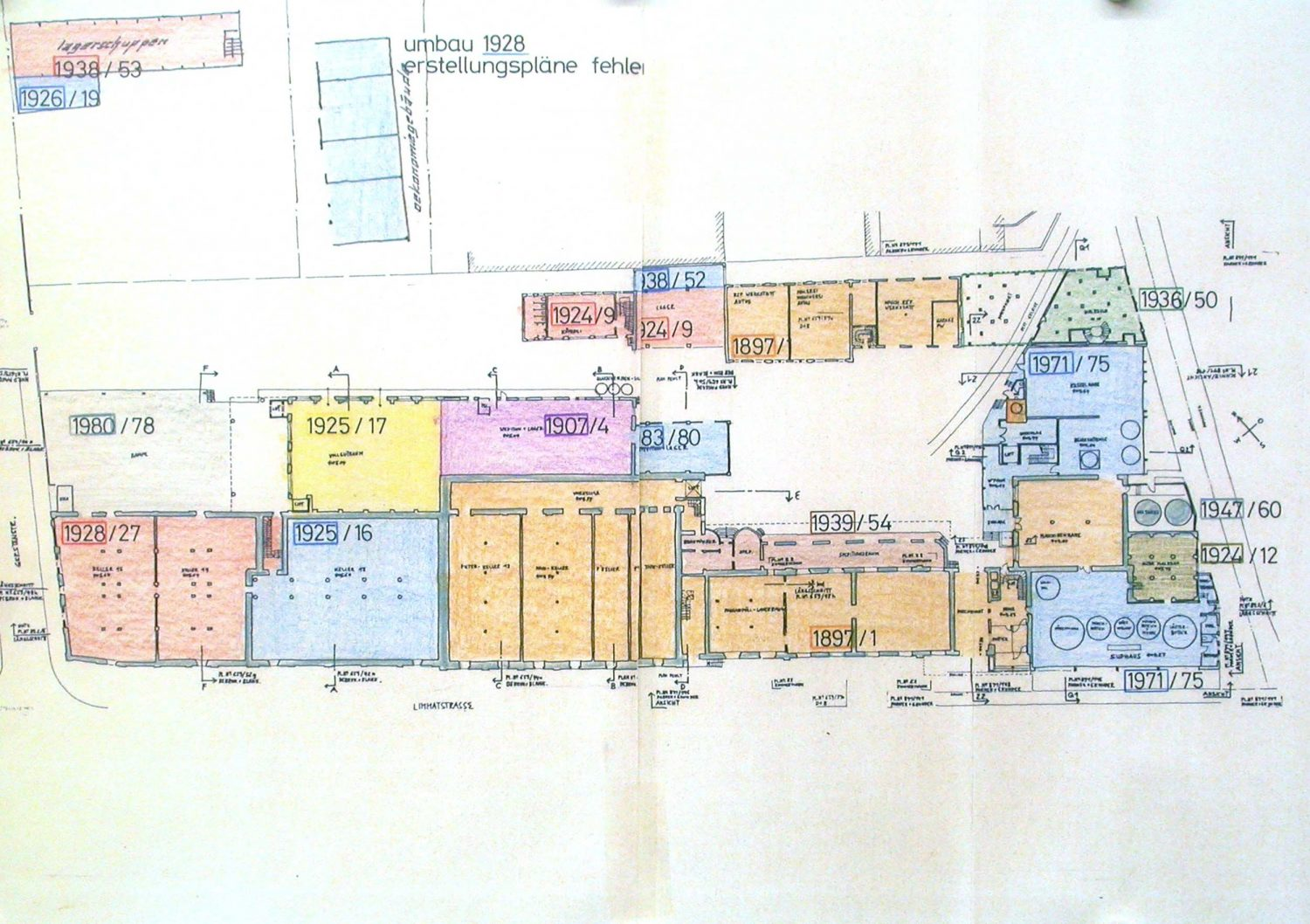 Building phases – plan 1990s