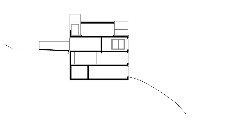 Section through house B