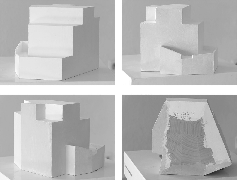 Study model, shades of white