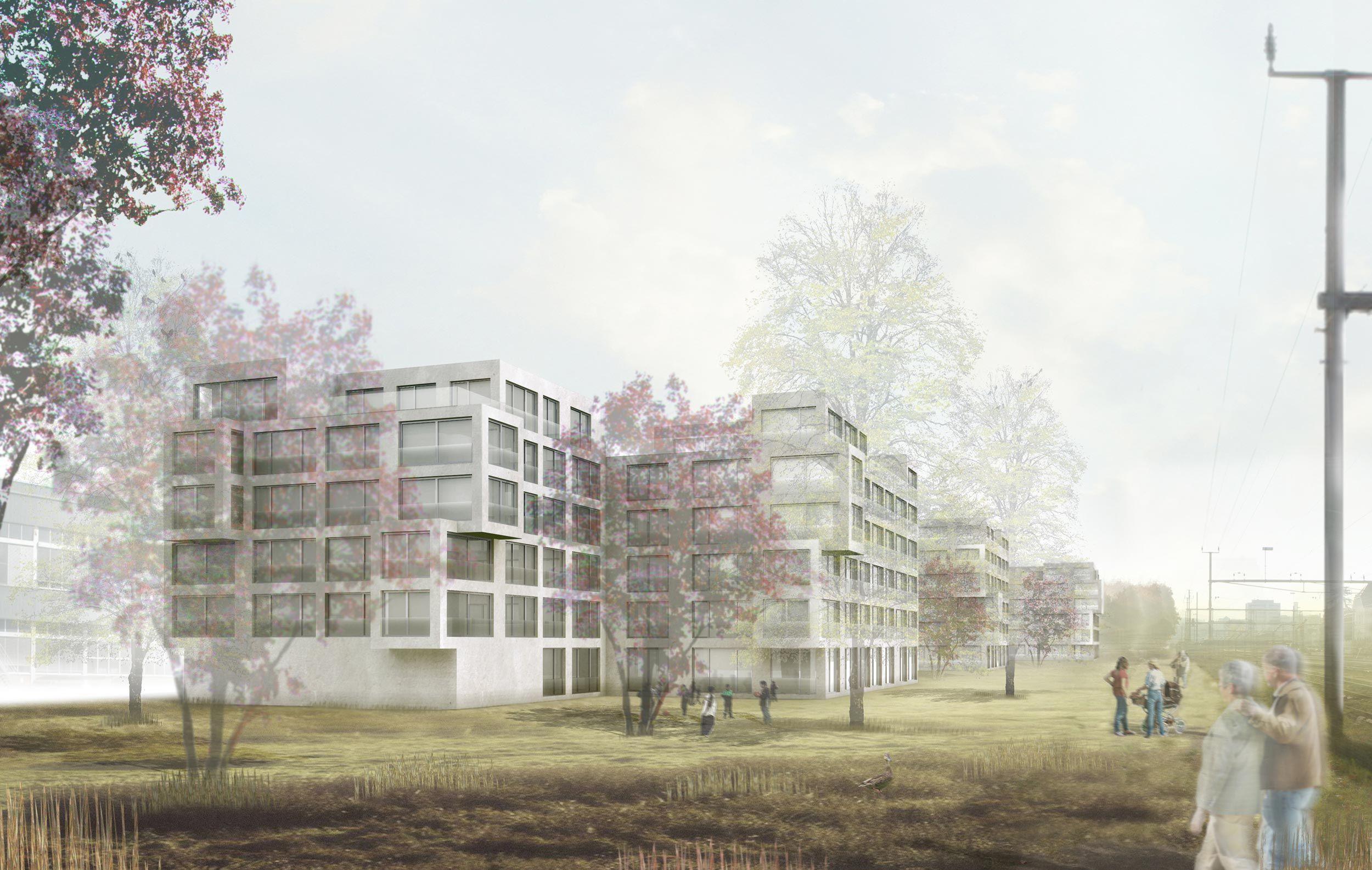 Wohnungsgebäude Areal Schleife
