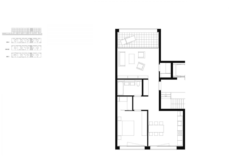 2.5-rooms – 1st–4th floor