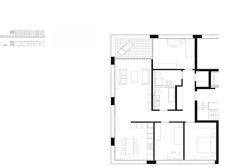 4.5-rooms – 2nd–3rd floor