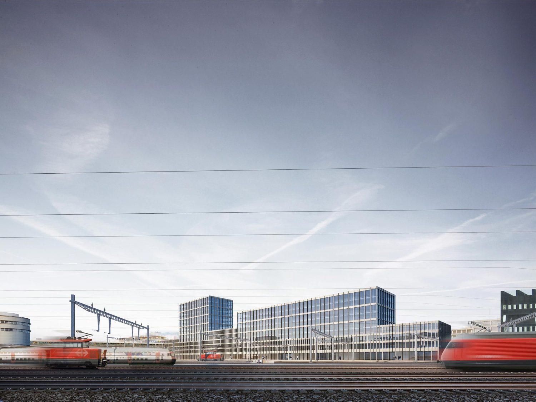 Bürogebäude zum Gleisfeld