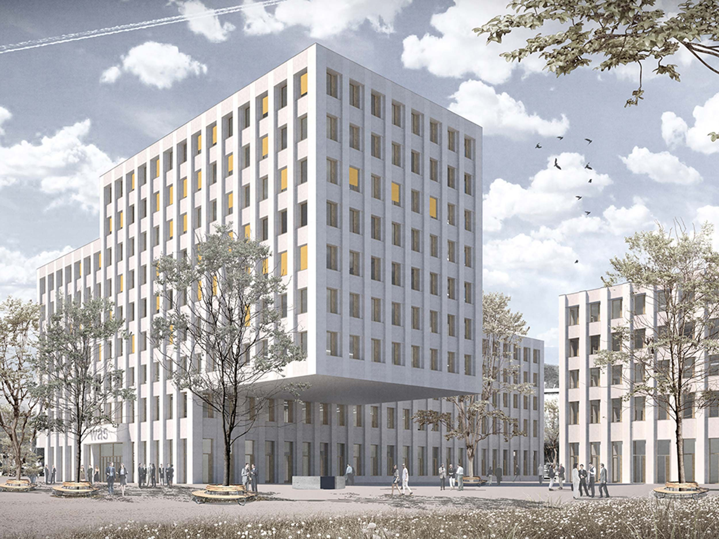 Neubau Sozialversicherungszentrum WAS (Wirtschaft Arbeit Soziales)Areal Eichhof West