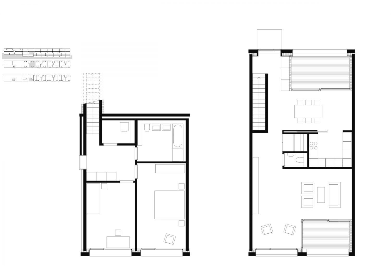 5.5 room duplex apartment  – lower floor and ground floor