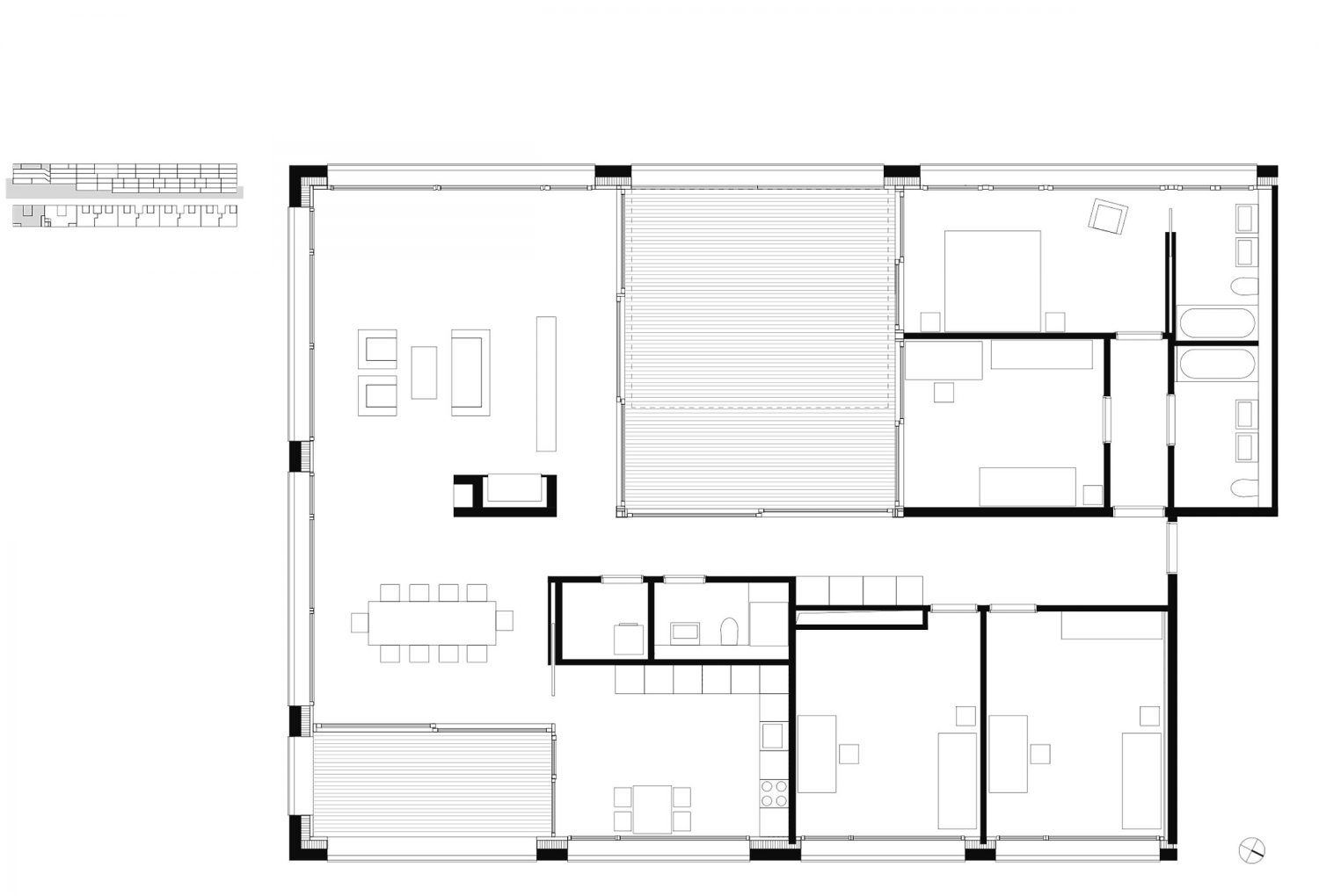 5.5 room apartment with patio – 3rd floor