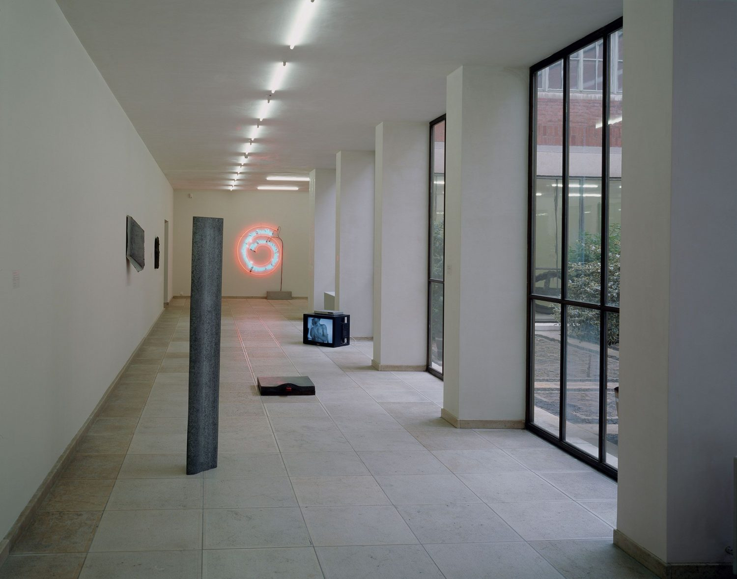 Exhibition space, hallway around small courtyard