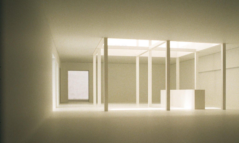 Lending area with skylight